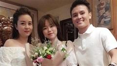 Hết 'dính như sam' ở Đà Nẵng, Huỳnh Anh lại cùng Quang Hải dự tiệc mừng sinh nhật mẹ nuôi cực tình cảm