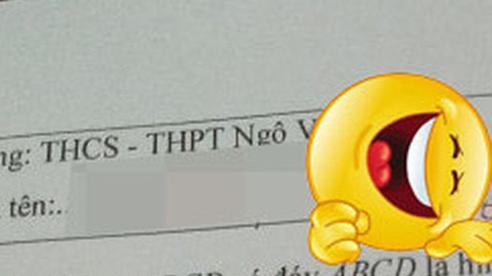 Thấy học trò điền thiếu tên trong bài kiểm tra, giáo viên vội ra tay giúp đỡ nhưng cách viết khiến trò chỉ muốn 'độn thổ'