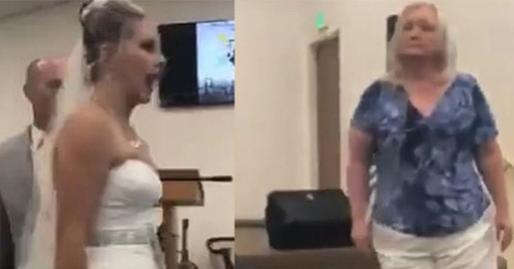 Mẹ chồng nàng dâu cãi tay đôi nảy lửa ngay trong lễ thành hôn khiến quan khách phải ngỡ ngàng, chú rể xấu hổ cúi gằm mặt