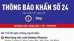 Khẩn: Bộ Y tế tìm kiếm những người từng đến 3 trung tâm tiệc cưới ở Đà Nẵng liên quan bệnh nhân Covid-19