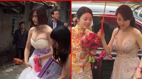 Ngắm loạt phù dâu ngực 'khủng' khiến váy như muốn bung ra, dân tình thì 'đỏ mặt'