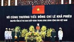 Lãnh đạo Đảng, Nhà nước một số quốc gia gửi Điện, Thư chia buồn nguyên Tổng Bí thư Lê Khả Phiêu từ trần