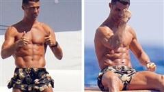 Ronaldo lộ cơ bụng chuẩn đét khi đi nghỉ dưỡng cùng bạn gái, chỉ gồng bắp tay cũng khiến các fan chết lặng