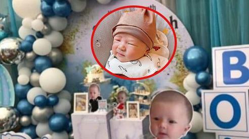 Con trai Duy Mạnh được bố mẹ chuẩn bị tiệc đầy tháng rực rỡ, tên thật của bé Ú Béo cũng được tiết lộ rồi đây