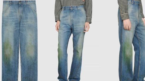 Gucci khiến giới thời trang cười xỉu khi ra mắt quần jeans phong cách 'xòe xe trời mưa' giá 18 triệu
