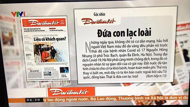 Sau phát ngôn trên báo Mỹ, BN17 bất ngờ xuất hiện trên sóng VTV
