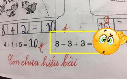 Bài toán '8-3+3=?': Cả học sinh lẫn phụ huynh khẳng định đáp án là 8, nhưng cô giáo gạch sai và đưa ra con số ai cũng ngơ ngác