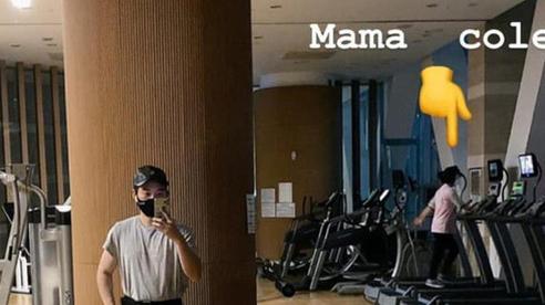 Vợ HLV Park Hang-seo được con trai cổ vũ hài hước khi cùng đi tập thể dục