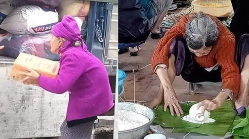 Xúc động hình ảnh những cụ bà còng lưng bê mì gói, quần áo, gói bánh gửi vào miền Trung với lời nhắn: Cho mẹ gửi chút tình thương với đồng bào mình!