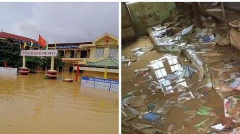 Khung cảnh trường học sau trận 'đại hồng thuỷ' tại Quảng Trị: Cơ sở vật chất hư hỏng, sách vở, đồ dùng học tập ngập ngụa bùn đất