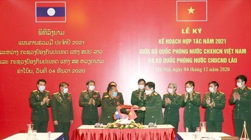 Bộ Quốc phòng Việt Nam và Bộ Quốc phòng Lào ký Kế hoạch hợp tác năm 2021