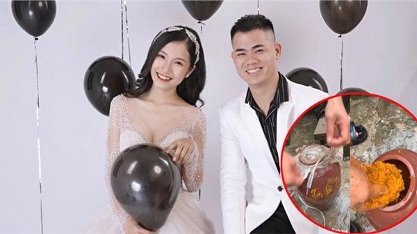 'Anh chồng quốc dân' tự tay làm gừng nghệ ngâm rượu hạ thổ để vợ bôi sau sinh, bà xã về ngay vòng eo 57cm