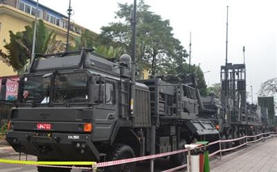Hệ thống tên lửa phòng không Spyder được giới thiệu tại Hội chợ - Triển lãm Việt Bắc 20202 tại Thái Nguyên. Ảnh: Trà Khánh.