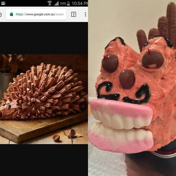 Khi bạn thích con bò cười nhưng các con bạn lại bắt làm bánh hình con nhím.
