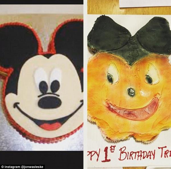 Người thợ làm bánh này muốn tạo lại một chiếc bánh Mickey Mouse dễ thương nhưng thành phẩm thật khó nhận ra và trông có vẻ khá đáng sợ.