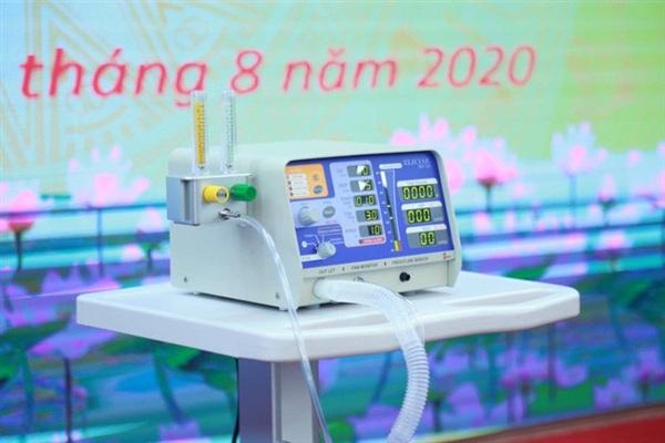 Máy thở MV20 được bàn giao cho các cơ sở y tế