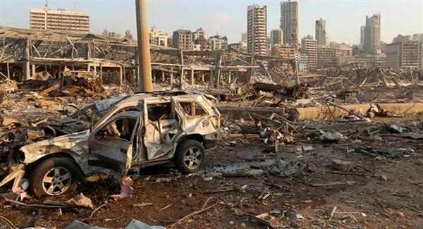 Hậu quả của vụ nổ như bom nguyên tử ở Beirut, Li-băng.