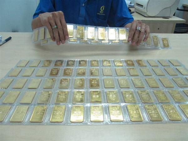 Giá vàng SJC tiếp tục lập đỉnh mới. Ảnh: Linh Anh
