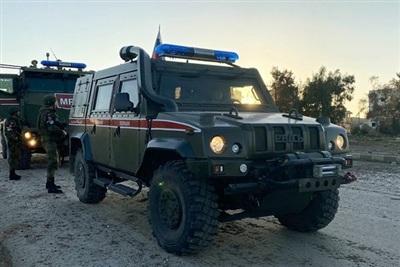 Cảnh sát quân sự Nga ở tỉnh Idlib của Syria. (Ảnh: Sputnik)