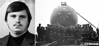 Leonid Berezovsky và tàu ngầm nguyên tử 'Chó sói'. Ảnh: Sevmash