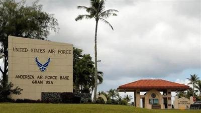 Trước căn cứ không quân Mỹ trên đảo Guam. (Ảnh: Reuters)