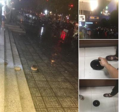 Người dân chung cư bàng hoàng khi đang trú mưa thì chứng kiến một quả tạ rơi từ trên tầng cao xuống đất ngay trước mặt