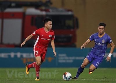 Viettel sáng cửa vô địch V-League 2020 khi đang dẫn đầu bảng xếp hạng với phong độ cao. (Ảnh: Giang Hiển/Vietnam+)