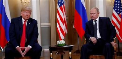 Tổng thống Donald Trump gặp Tổng thống Nga Vladimir Putin tại Helsinki, Phần Lan vào ngày 16/7/2018. Ảnh: Reuters