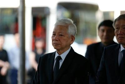 Nguyên Chủ tịch nước Nguyễn Minh Triết đến viếng.