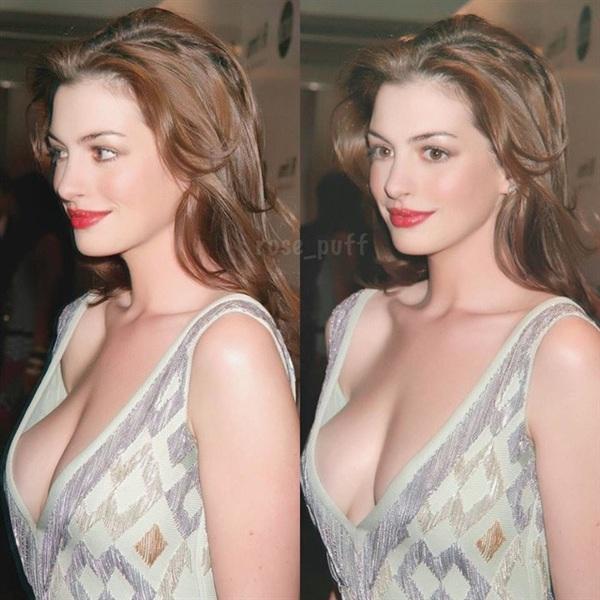 Nhắc đến biểu tượng của vẻ đẹp quyến rũ, đằm thắm, không thể không nhắc đến Anne Hathaway. 'Nàng công chúa' Hollywood sở hữu làn da trắng sữa, đôi mắt nai ngây thơ và cả đôi gò bồng đảo quyến rũ 'chết người'.