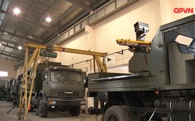 Tổ hợp tên lửa phòng không tầm thấp cơ động do Việt Nam chế tạo. Ảnh: QPVN.