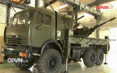 Pháo phòng không ZSU-23-2 đặt lên xe cơ động do Viện cơ giới kỹ thuật quân sự nghiên cứu chế tạo. Ảnh: QPVN.