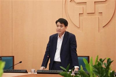 Chủ tịch Hà Nội trong một cuộc họp BCĐ chống dịch TP
