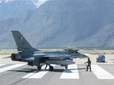 Máy bay chiến đấu của Paksitan tại căn cứ Skardu. Ảnh: Facebook PAF.