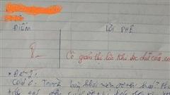Chấm bài kiểm tra, cô giáo 'giảm thị lực' vì chữ viết có '1-0-2' của học trò