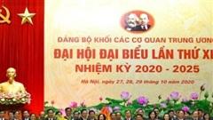 Đại hội đại biểu Đảng bộ Khối các cơ quan Trung ương lần thứ 13 thành công tốt đẹp