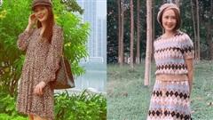 Bảo Thanh diện váy hoa khoe khéo bụng bầu, Hồng Diễm 'hồi teen' hết sảy trong street style 'vũ trụ VTV'