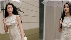 Hoa hậu Thùy Dung mặn mà với loạt váy vóc nữ tính bay bổng ngày se lạnh