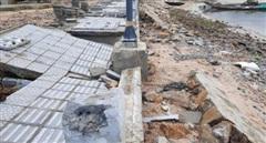 Dự án đường trăm tỷ chưa sử dụng đã tan hoang