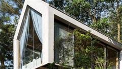 Ngôi nhà nhỏ 40m² chênh vênh trên núi 'tắm' trọn ánh nắng và bóng cây ở ngoại ô Hà Nội