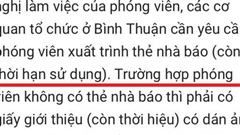 Giám đốc Sở TT&TT Bình Thuận nói gì về 'quy định' phóng viên phải trình giấy giới thiệu có dán ảnh khi làm việc tại tỉnh này?