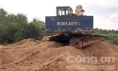 Vụ cát lậu phát hiện gần UBND xã: Tang vật 'biến mất'