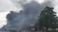 Hỏa hoạn tại khu vực cửa khẩu Đen San Vẳn làm 8 người thương vong