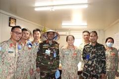 Chỉ huy quân sự Phái bộ CH Nam Sudan đánh giá cao công tác phòng, chống Covid-19 của Bệnh viện dã chiến Việt Nam
