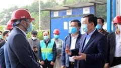 Bí thư Thành ủy Hà Nội Vương Đình Huệ kiểm tra đột xuất Khu Liên hợp xử lý rác thải Sóc Sơn