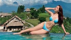Chi Pu diện bikini phơi mình cực nóng bỏng, đôi gò bồng đảo không choáng bằng vòng eo nhỏ khó tin