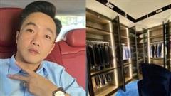 Cường Đô La lần đầu tự hé lộ tủ quần áo trong biệt thự tiền tỷ, bày cả dàn đồ sang trọng chẳng khác gì cửa hiệu