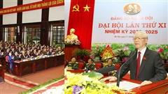 [Photo] Tổng Bí thư dự Đại hội đại biểu Đảng bộ Quân đội lần thứ XI