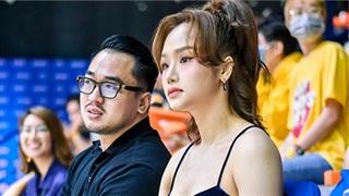 Miu Lê cùng 'bạn trai tin đồn' tham gia sự kiện bóng rổ