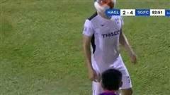 Cầu thủ 'đạo đức nhất Sài Gòn FC' lên tiếng phân trần về quả ném biên trúng mặt Hồng Duy